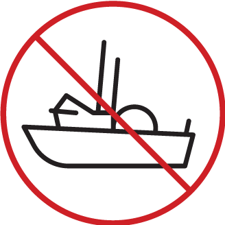 illustration of a fishing boat crossed out