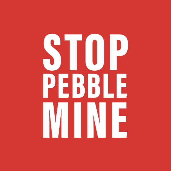 Stop Pebble Mine badge